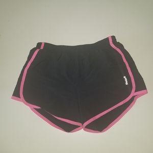 Reebok Shorts - Girls Medium Black and Pink